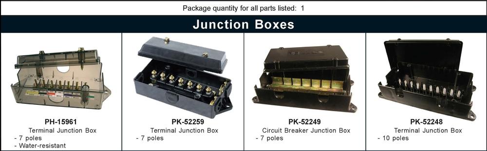 Fuse Panels, Blocks, Terminal Blocks, Junction Box